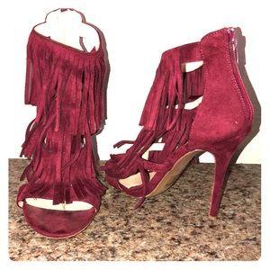 Shoes - Burgundy heels